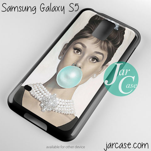 audrey hepburn bubble gum Phone case for samsung galaxy S3/S4/S5