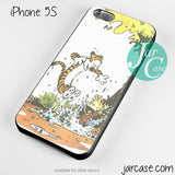 Calvin Hobbes glass Phone case for iPhone 4/4s/5/5c/5s/6/6 plus