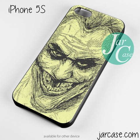joker sketch Phone case for iPhone 4/4s/5/5c/5s/6/6 plus