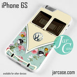 modern floral vw retro bus Phone case for iPhone 6/6S/6 Plus/6S plus