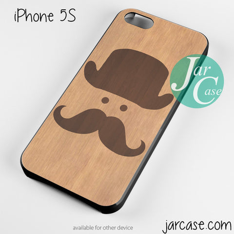 moustache hat wood case for iPhone 4/4s/5/5c/5s/6/6 plus