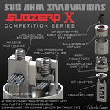 SubZeroX Competition RDA