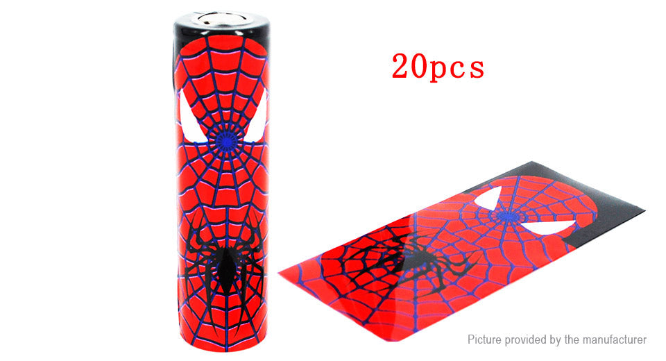 18650 Battery Wraps Superhero