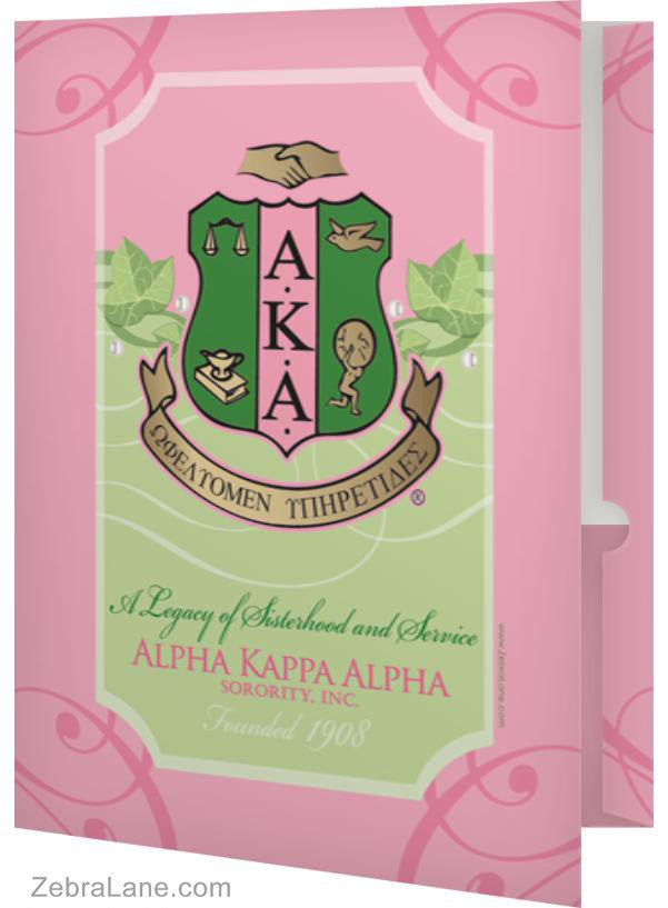 Alpha Kappa Alpha Ivy Shield Folder- Set of 2 – ZebraLane