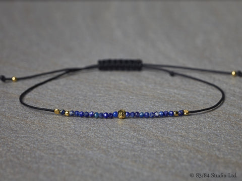 Lapis with Gold Bracelet