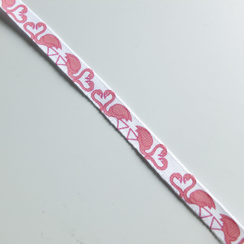 2 metres of Pink Flamingo Ribbon