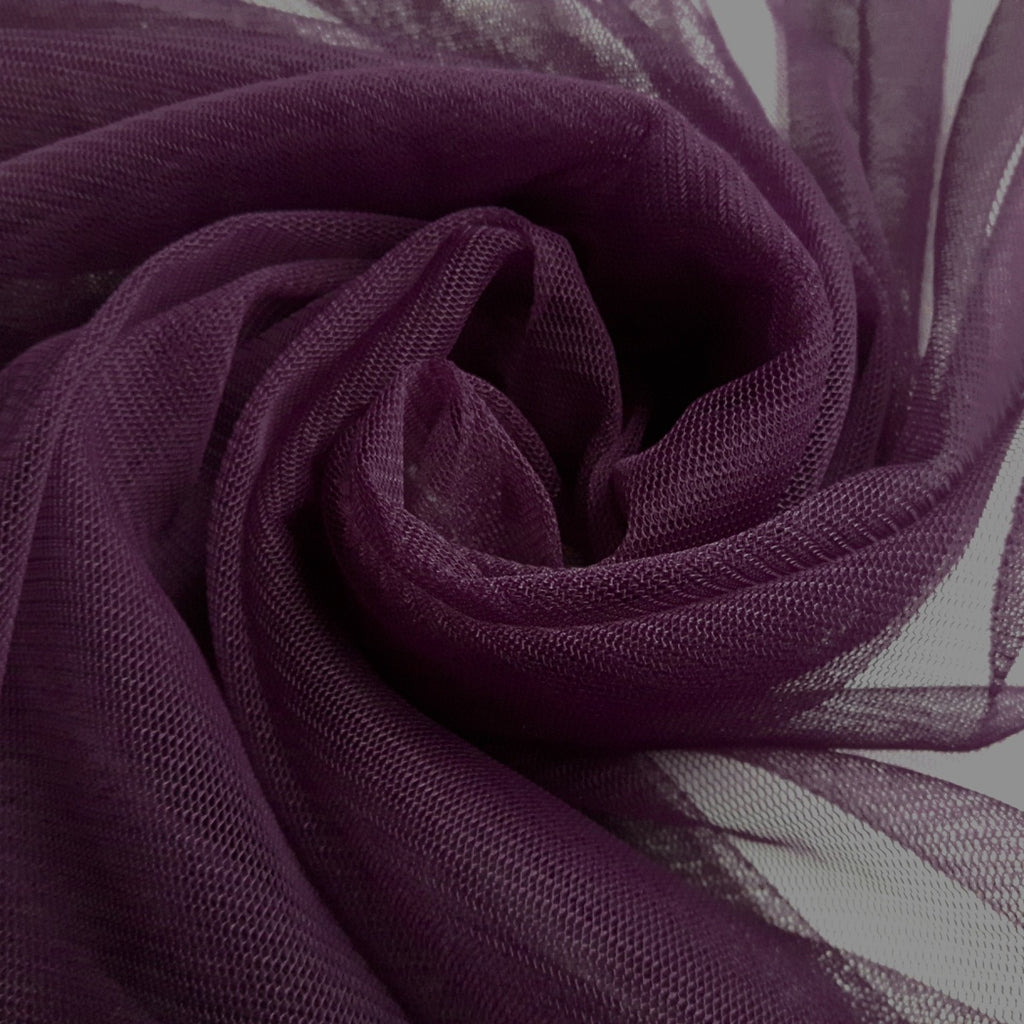 Plum Soft Tulle Dress Fabric 150cm Wide