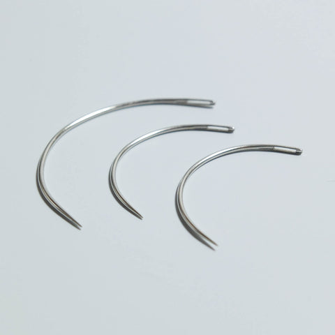 Curved Hand Sewing Needles - Pack of 3