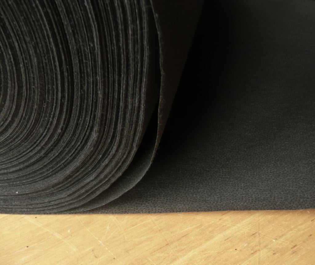 Medium weight fusible iron on interfacing - Black