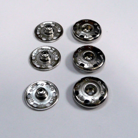 Set of 3 x 18mm snap fasteners poppers