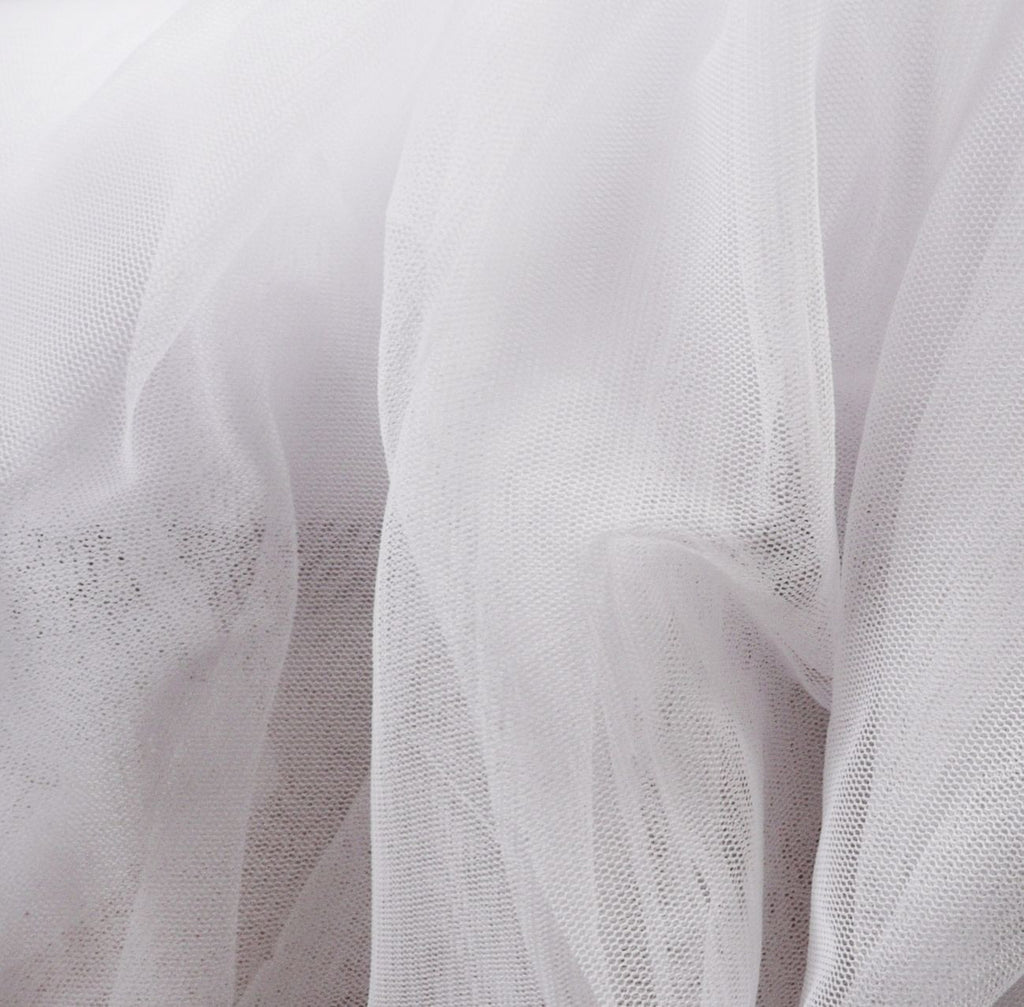 Soft Tulle Fabric 150cm Wide - White