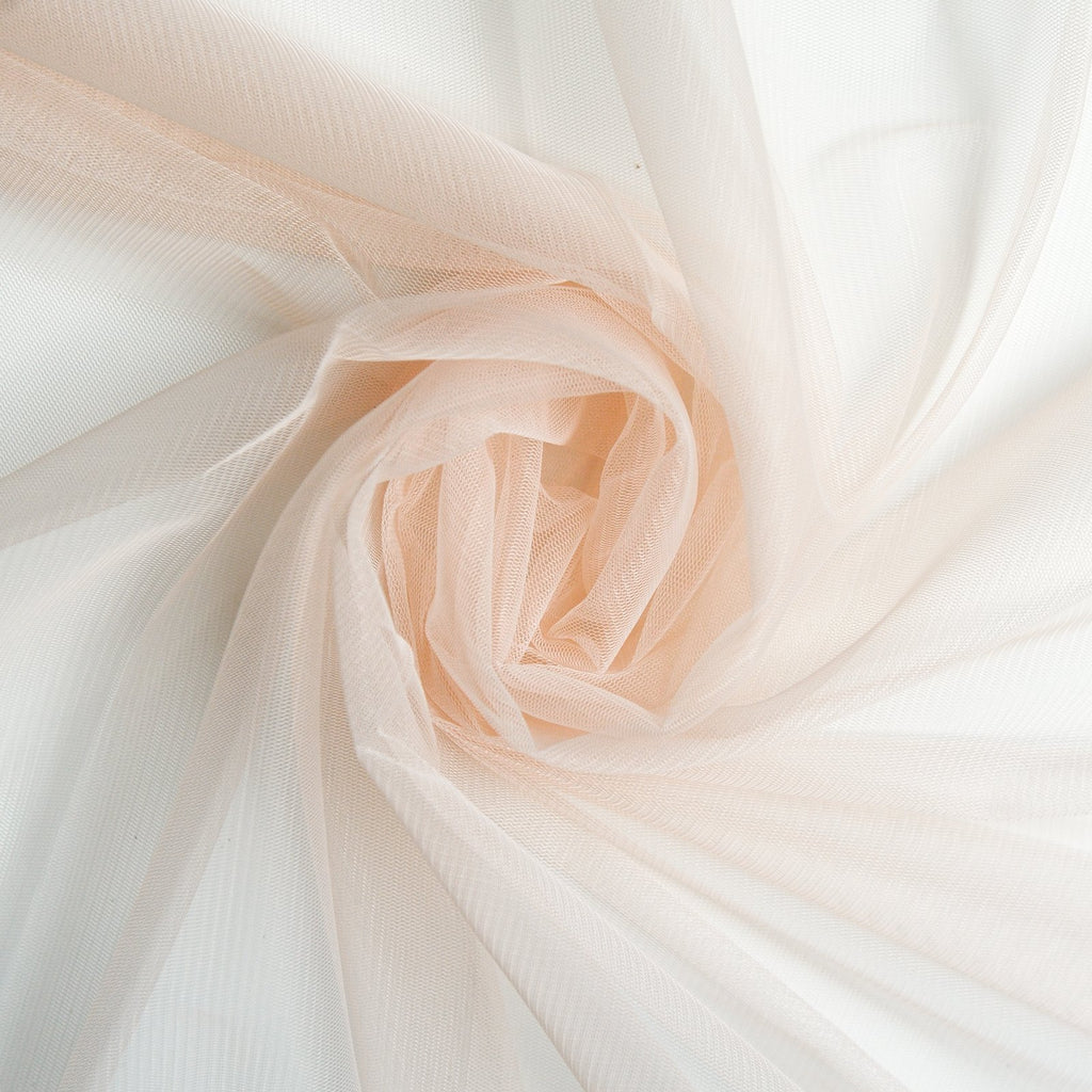 Soft Tulle Fabric 150cm Wide - Light Pastel Peach