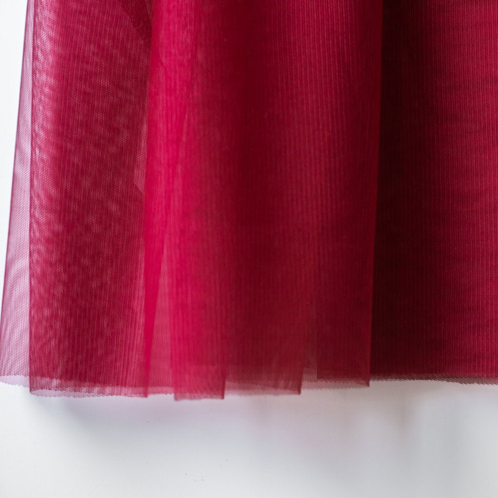 Soft Tulle Fabric 150cm Wide - Wine Red