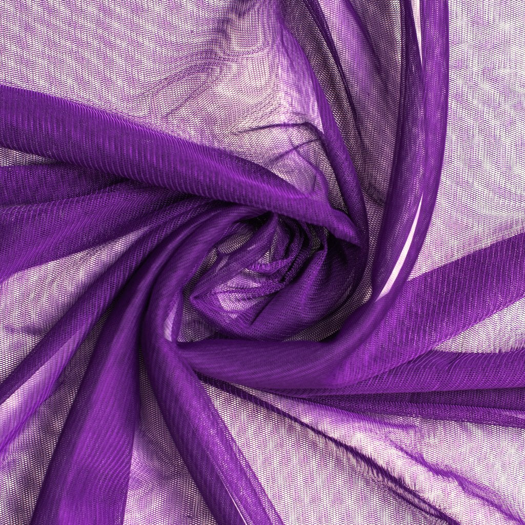 Bright Purple Soft Tulle Dress Fabric 150cm Wide