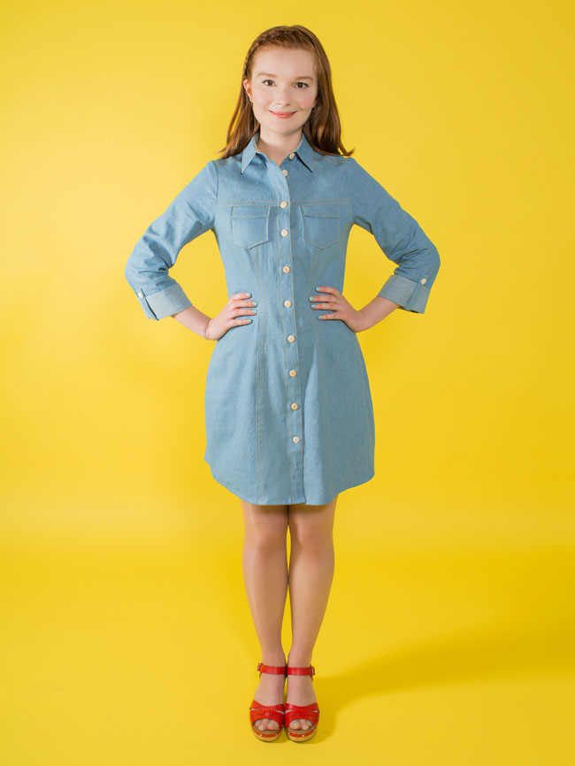 Tilly & The Buttons Rosa Shirt Dress Paper Pattern 1031