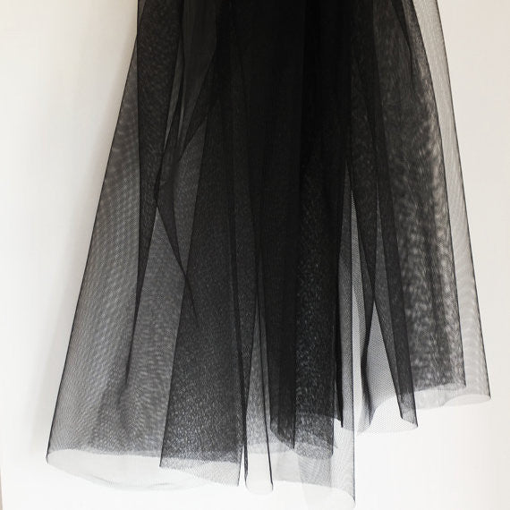 Soft Tulle Fabric 150cm Wide - Black
