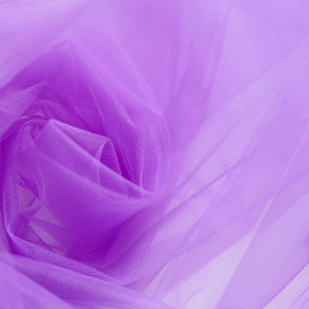 Purple 300cm Wide Fine Tulle Fabric