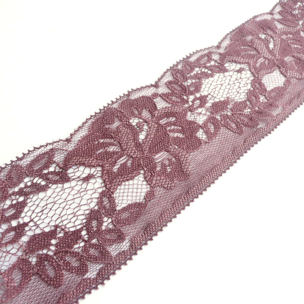 Chocolate Brown Dainty Lace Edge Trim - 65mm Wide