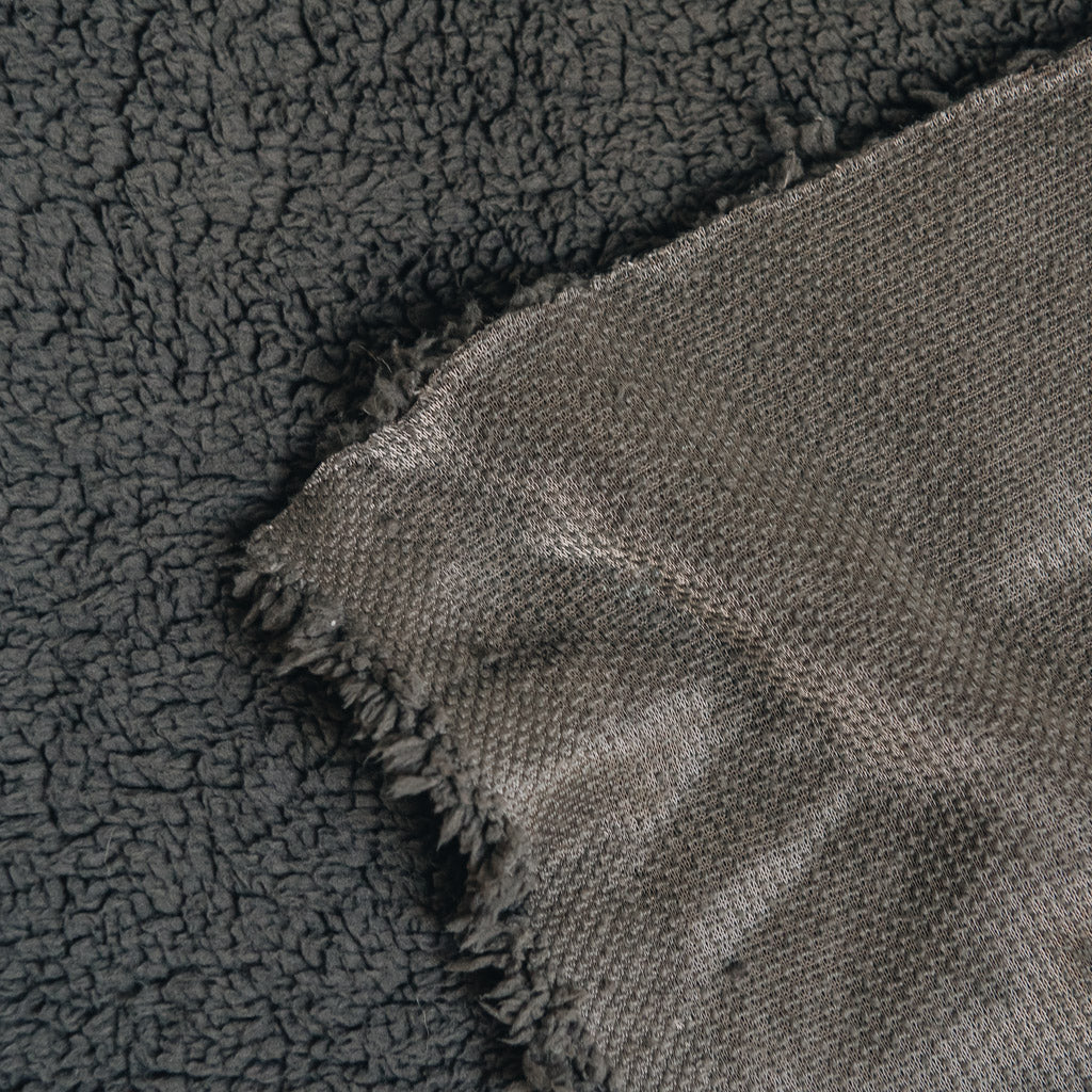 Sherpa Fleece Fabric - Dark Grey