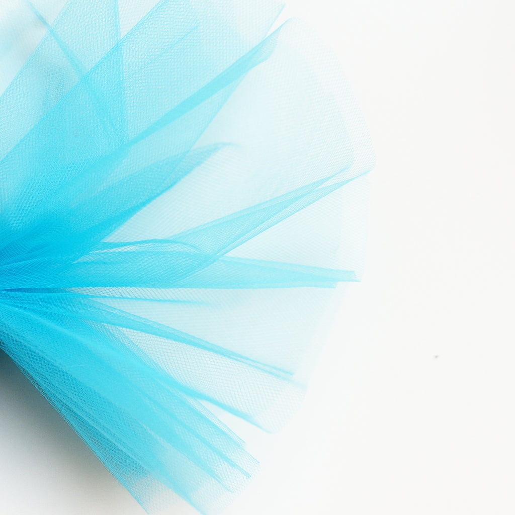 Peacock / Turquoise Blue 300cm Wide Fine Tulle Fabric