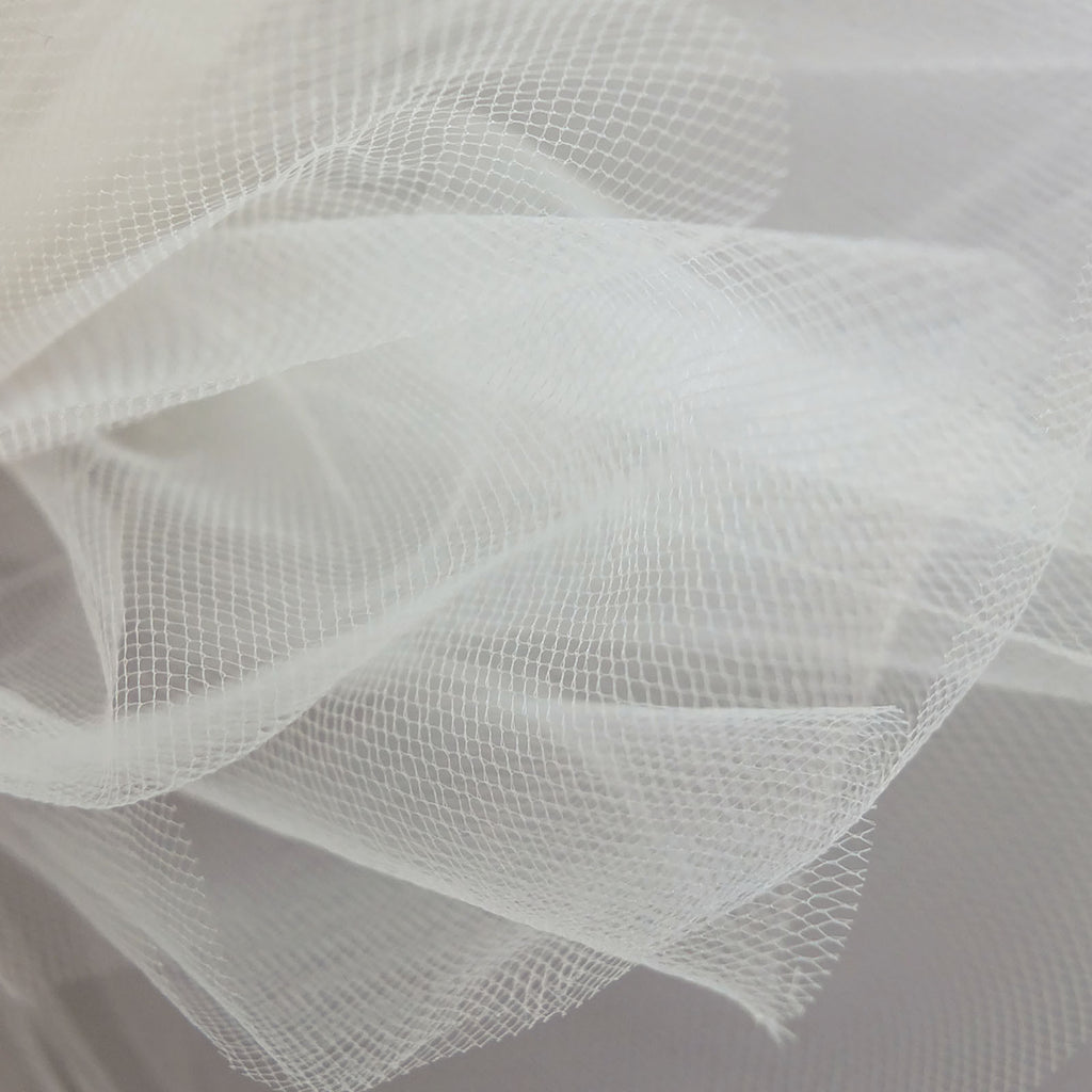 Cream 300cm Wide Fine Tulle Fabric