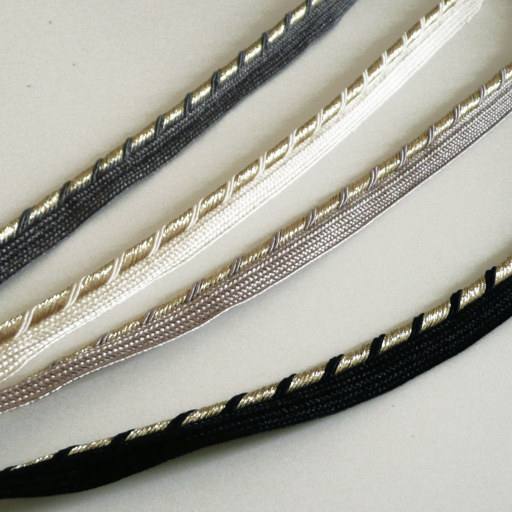 Gold Lurex Twist Flanged Insert Piping Cord