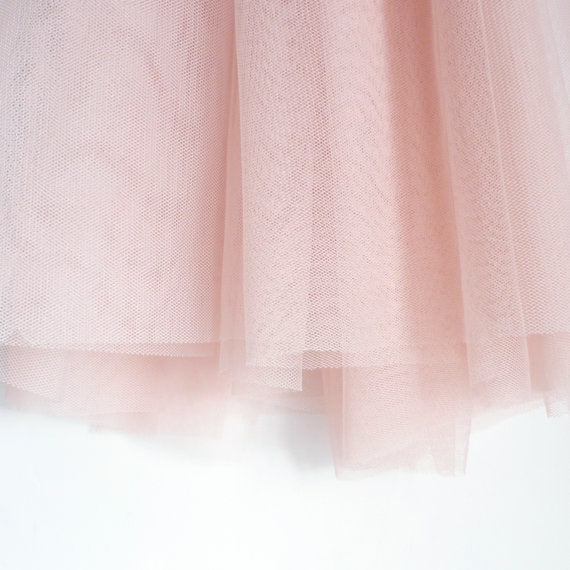 Soft Tulle Fabric 150cm Wide - Blush Pastel Peach