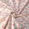 Ivory Flamingo Printed Fabric - 100% Cotton Poplin