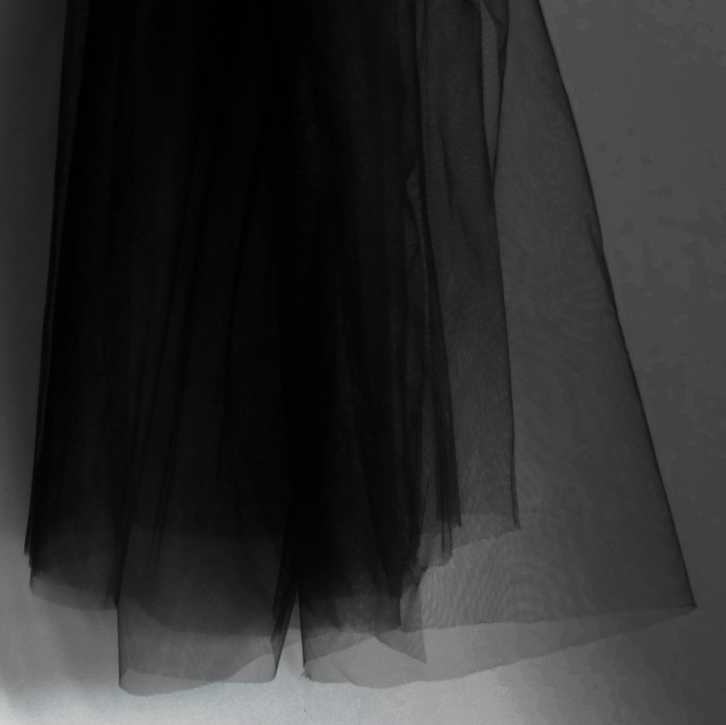 Black Super Fine Luxury Soft Tulle Fabric - 150cm Wide