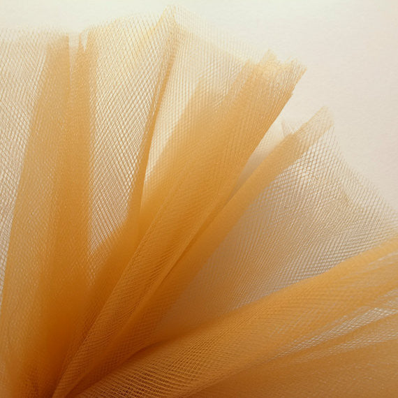 Gold 300cm Wide Fine Tulle Fabric