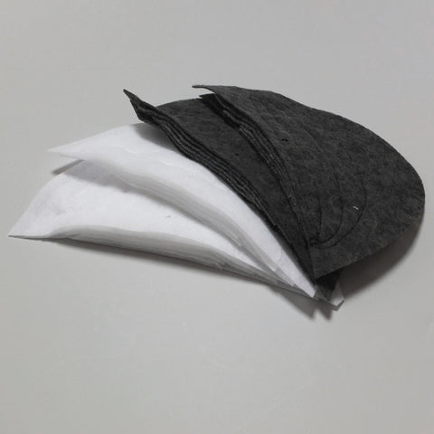 Constructed Shoulder Pads - White or Black