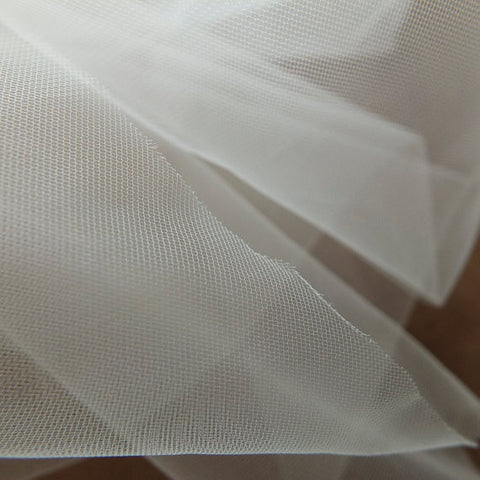 Ivory Super Fine Illusion Soft Tulle Fabric - 150cm Wide