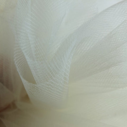 Ivory 300cm Wide Fine Tulle Fabric