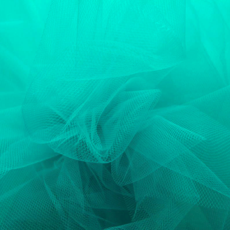 Jade / Turquoise 300cm Wide Fine Tulle Fabric