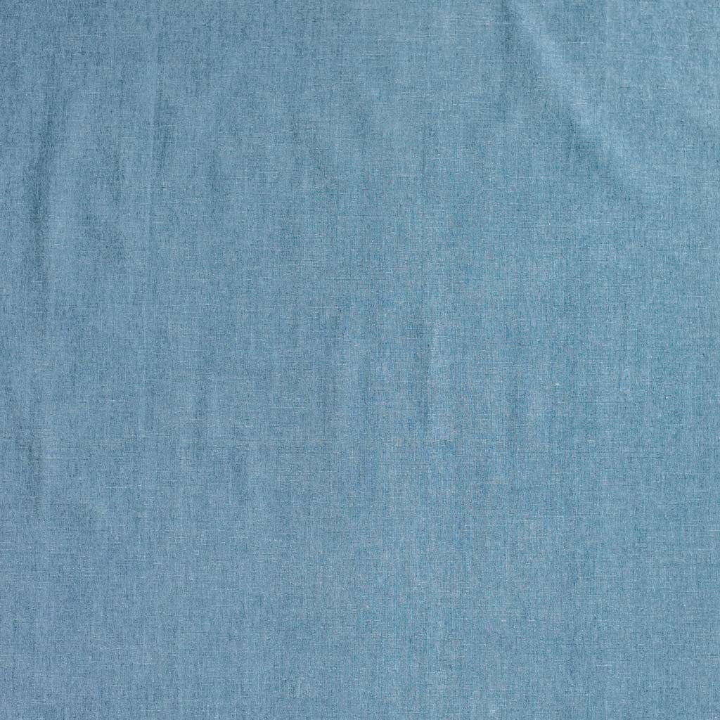 6oz Chambray Woven Cotton Fabric - Mid Blue