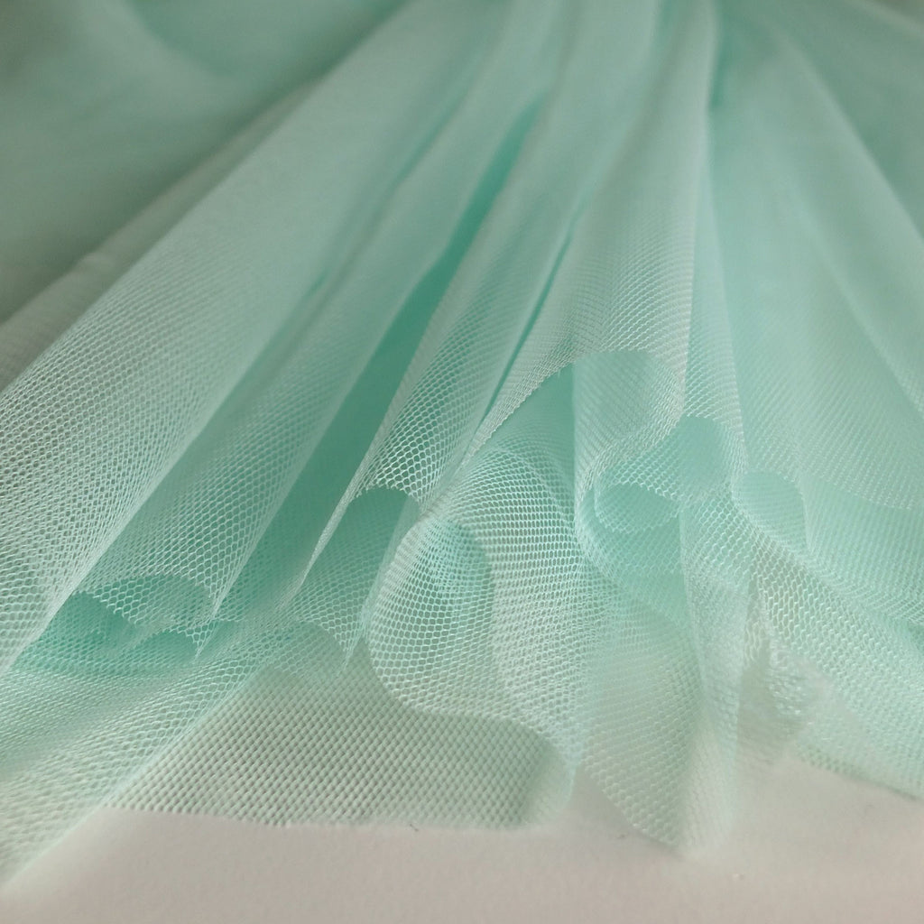 Soft Tulle Fabric 150cm Wide - Mint Green