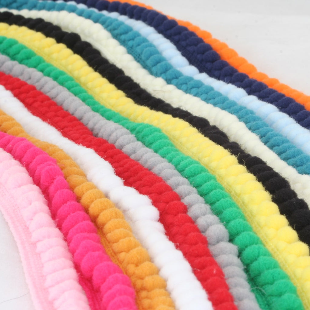 Mini Pom Pom Bobble Plain Trim -14 colours