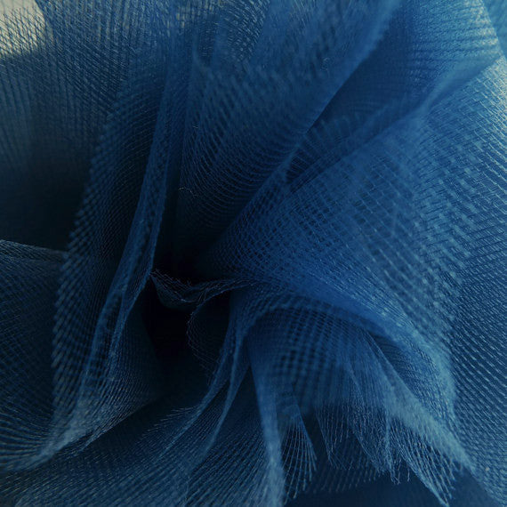 Navy 300cm Wide Fine Tulle Fabric