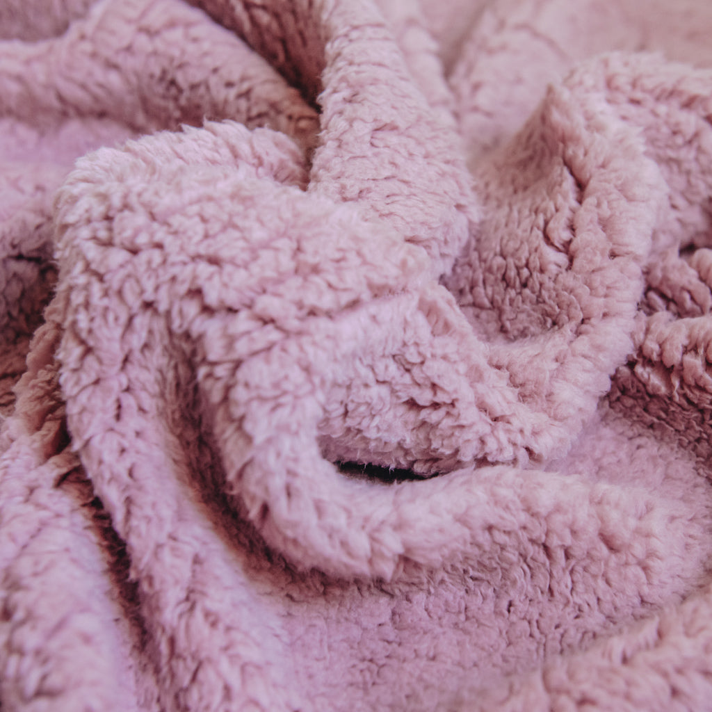 Sherpa Fleece Fabric - Dusky Pink