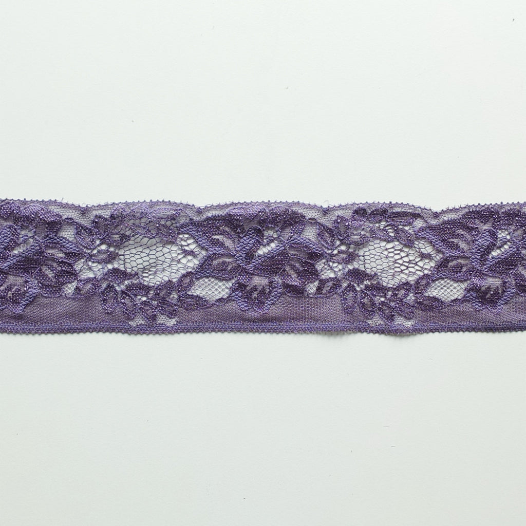 Purple Dainty Lace Edge Trim - 65mm Wide