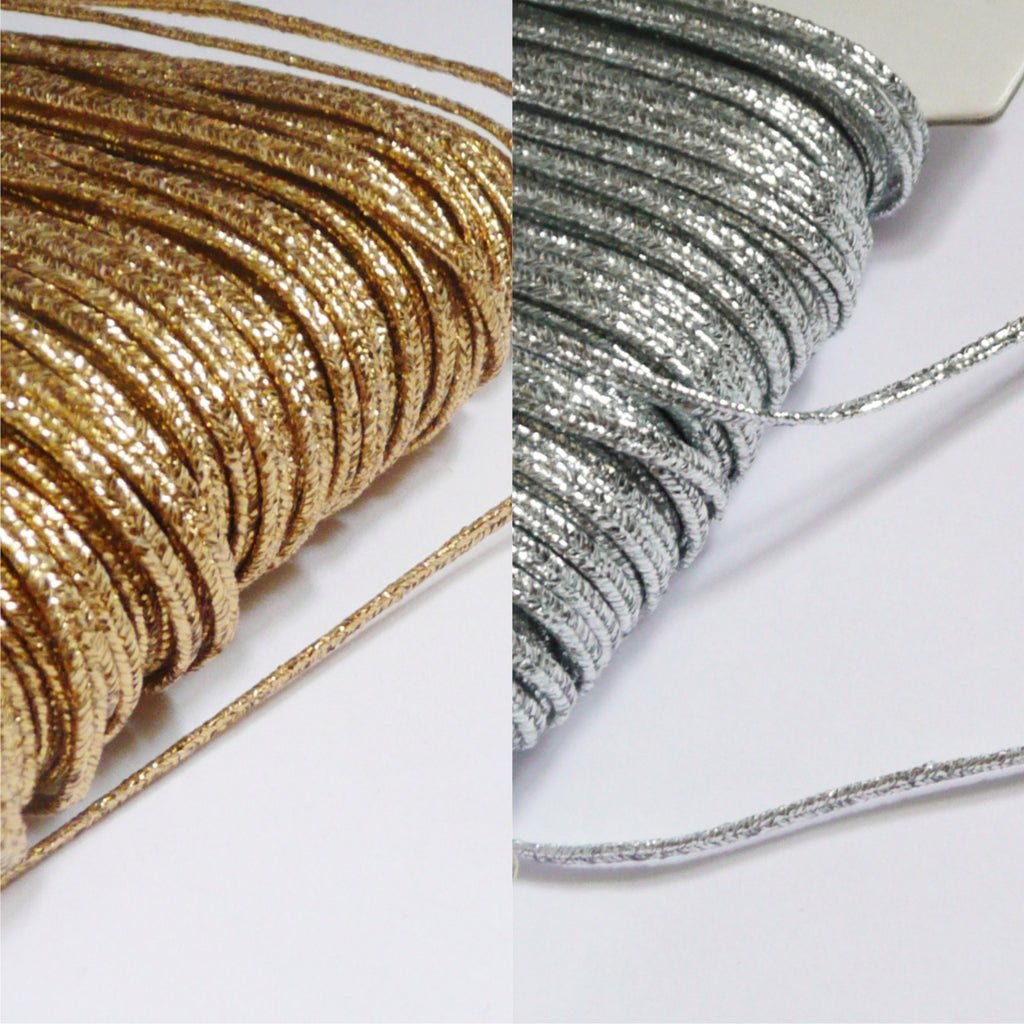 2m of Lurex Russia Braid - Gold / Silver