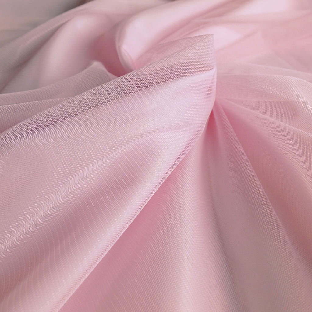Soft Tulle Fabric 150cm Wide - Pastel Pink