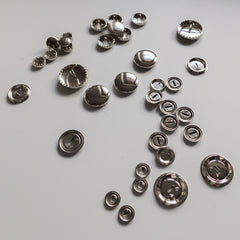 Self Cover Metal Buttons - 6 different sizes