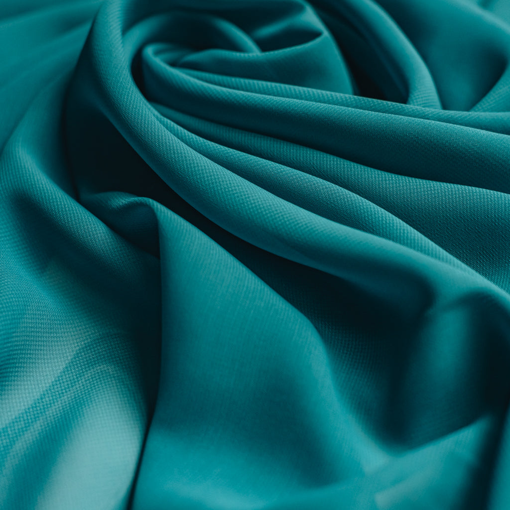Teal Green Chiffon Fabric