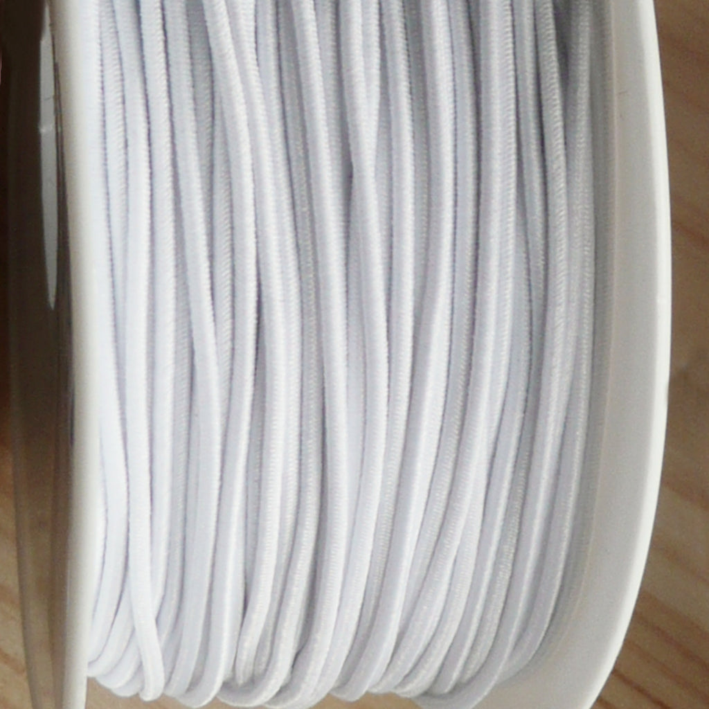 2 Metres of 1mm Round Elastic Cord - 8 Colours