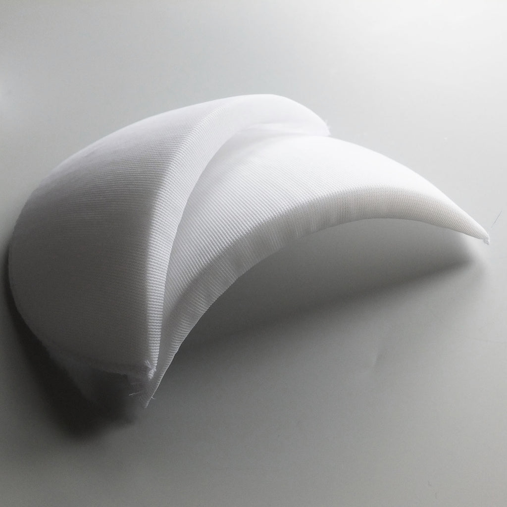 Foam Shoulder Pads - White / Black - 3 Sizes