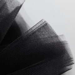 Black 300cm Wide Fine Tulle Fabric