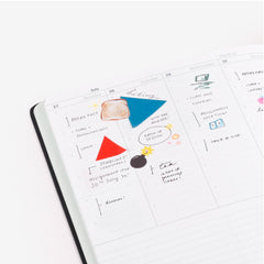 Geometric Sticky Notes - 03 Sky Blue + Vermilion