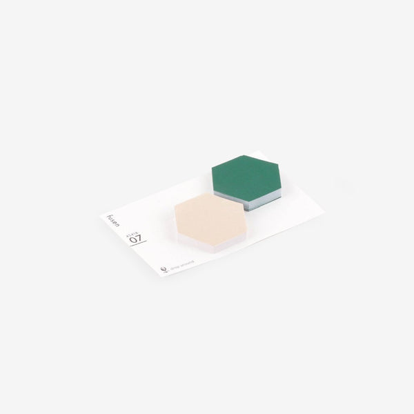Geometric Sticky Notes - 07 Off White + Moss