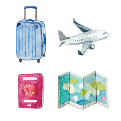 Artist Series Stickers: Travel (STC-506)